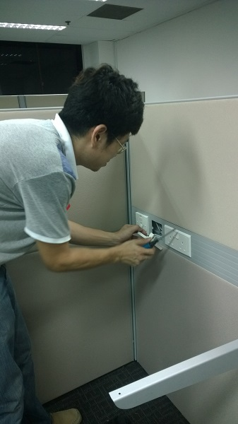 Installation Cat 5e Cat 6 data point by  Assista Singapore