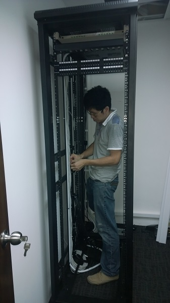 Cat 5e Cat 6 on Server Rack by  Assista Singapore