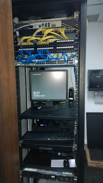Cat 5e Cat 6 on Server Rack by  Assista Singapore2