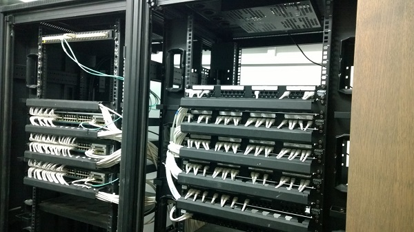 Server Rack with Cat 5e Cat 6 Network Cables by  Assista Singapore